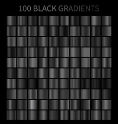 black gradients 100 big set vector image