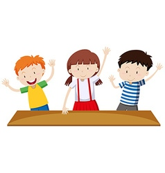 Children having hands up vector image vector image