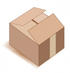empty paper box over white vector image vector image
