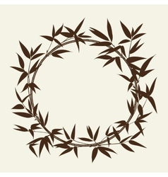 Bamboo decorative frame vector image