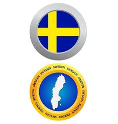 button as a symbol SWEDEN vector image vector image