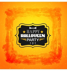 Happy halloween card typography letters font type vector