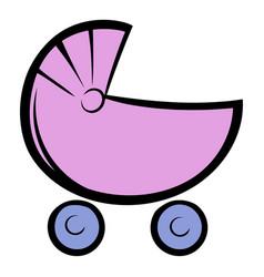 pram icon cartoon vector image vector image