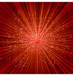red explosion vector image vector image