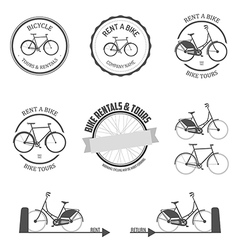Set of rent a bike design elements vector image vector image