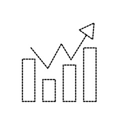 business finance chart bar graph arrow growth vector image vector image