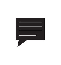 comment solid icon speech bubbles vector image vector image