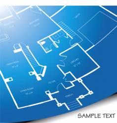 floor plan unrolling vector image vector image