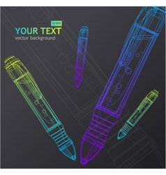 pen background vector image vector image