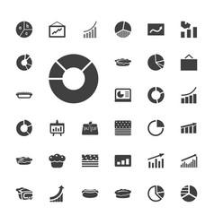 33 pie icons vector