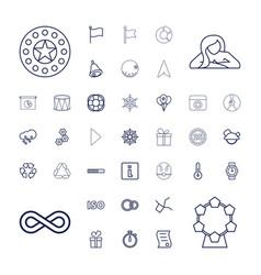 37 circle icons vector