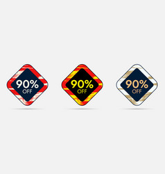 90 off discount sticker 90 off sale and discount vector image