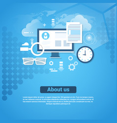 About us contact information template web banner vector
