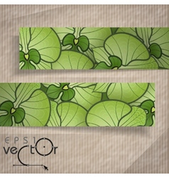 Abstract Banners With Place For Your Text vector image