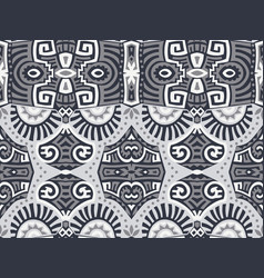 abstract ethnic style seamless pattern vector image