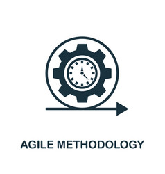 Agile methodology icon simple element from app vector