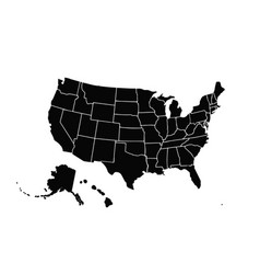 blank similar usa map isolated on white vector image
