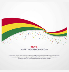 Bolivia happy independence day background vector