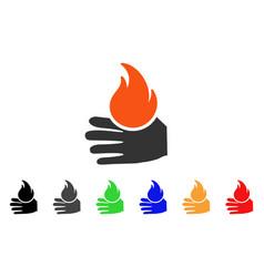 Burn hand icon vector