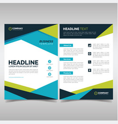business brochure design template vector image