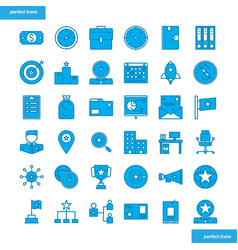 business element blue icons set style vector image