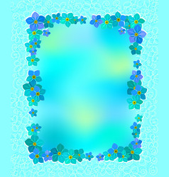 card with forget-me-nots graphics vector image