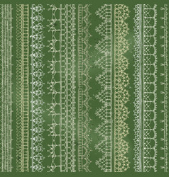 chalk crochet seamless pattern vector image