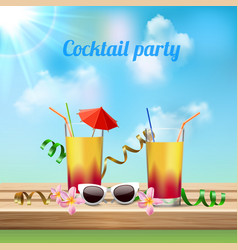 Cocktail party celebration vector
