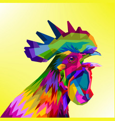 Colorful rooster head vector