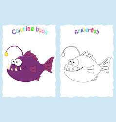 Coloring book page for preschool children vector