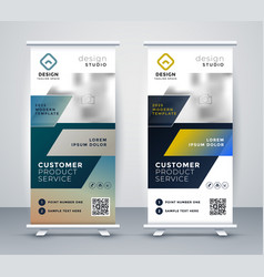 Company rollup business banner design vector
