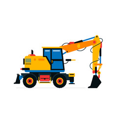 construction machinery excavator commercial vector image
