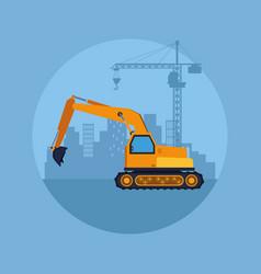construction vehicle cartoon vector image