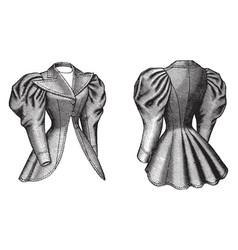 Cutaway coat vintage engraving vector