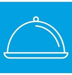 Dish thin line icon vector
