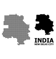 Dot pattern map new delhi city vector