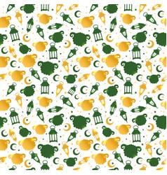 Eid al adha seamless pattern with sheep vector