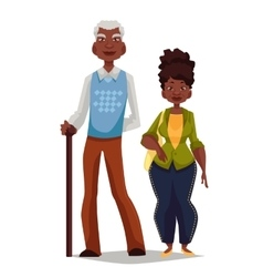Elderly couple woman and man vector