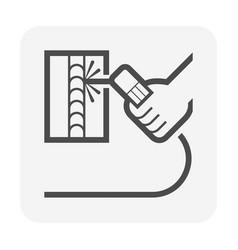 Electrode welding icon vector
