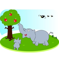 Elephant family vector