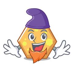 elf hexagon character cartoon style vector image