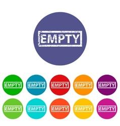 Empty flat icon vector image
