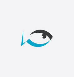 fat fish logo sign element vector image