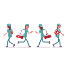 female nurse walking vector image