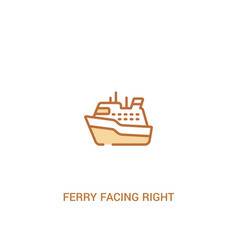 Ferry facing right concept 2 colored icon simple vector