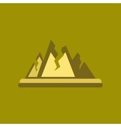 Flat icon on stylish background cracks mountains vector