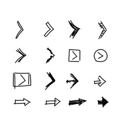 flat set of arrows indicating direction vector image