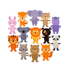 Forest savana and jungle baanimals cartoon vector