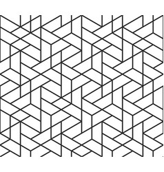 Geometric abstract seamless pattern cube lines vector