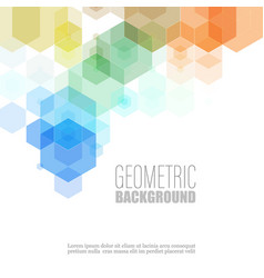 Geometric hexagon shape elements multicolor design vector